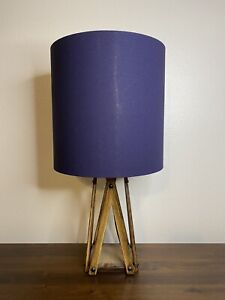 Navy Linen Handmade Lampshade Gold, Copper, Silver Lining, Drum, Empire, Coolie