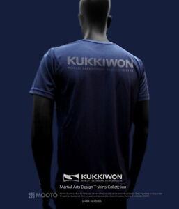 MOOTO KUKKIWON Cool Round T-Shirts WTF Martial Arts White/Black/Navy Taekwondo
