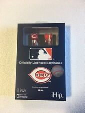Cincinnati Reds iHip Noise Isolating Earphones Earbuds - iPhone iPod NEW