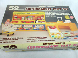 Vintage 1986 IMCO Supermarket battery operated play set for fashion type dolls