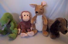 Kohls Cares Curious George Plush Kangaroo Dinosaur Dachshund Soft & Clean