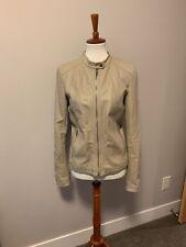 Express Faux Leather Off-white Moto Jacket Size Medium