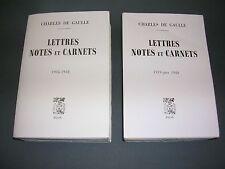Charles De Gaulle Lettres notes et carnets 2 volumes Edition originale numéroté