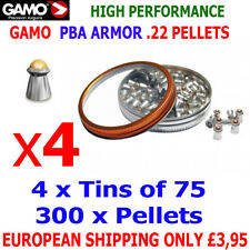 GAMO PBA ARMOR .22 Airgun Pellets 4(tins)x75pcs NEW