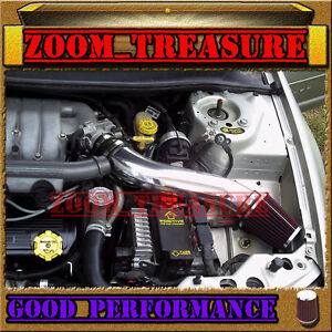 BLACK RED 1995-2000 DODGE STRATUS/CHRYSLER SEBRING/CIRRUS V6 LONG AIR INTAKE 2
