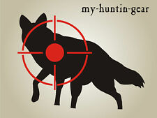 Coyote Stencil Shooting Varmint Cross-hair Target Paint Your Own Targets Coyote
