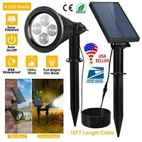 Solar Power Spot Light LED Garden Lamp Outdoor Walkway Lawn Landscape Path 2in1*