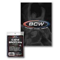 500 BCW Baseball Football Basketball Hockey Trading Card Plastic Soft Sleeves