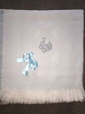 💙beautiful BLUE 💙baby shawls **NEW**  Very Bling Pram In Blue & Silver