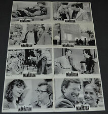 MANHATTAN 1979 ORIGINAL GERMAN LOBBY CARD SET OF 8! WOODY ALLEN COMEDY CLASSIC!