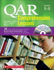 QAR Comprehension Lessons Grades 6 7 8 - 16 Lessons Text Passages CD Sealed New