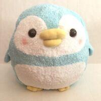 """Marukoro Pen-Chan Blue Fizzy Fluffy Penguin 13"""" Plush Japan Brand New"""