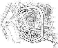 Yamaha XVS 1100 Drag Star Engine guard Chrome BY HEPCO AND BECKER