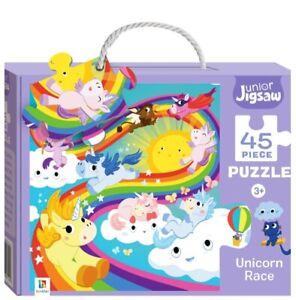 45 Piece Unicorn Race Junior Jigsaw Puzzle By Hinkler Books Kids Gift