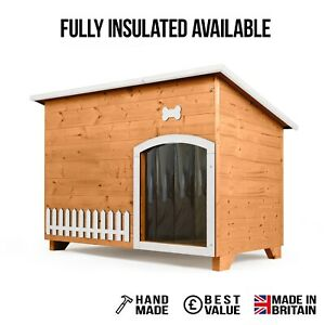 Outdoor Dog Kennel / House Winter Weather Proof Insulated - XL Size Autumn Gold
