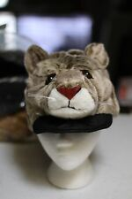 COUGAR HAT plush ADULT puma wildcat Costume FAN cap mascot Halloween stuffed toy