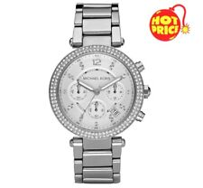 BRAND NEW GENUINE MICHAEL KORS MK5353 SILVER LADIES PARKER WATCH