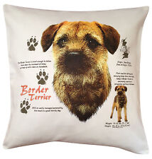 Border Terrier History Breed of Dog Cotton Cushion Cover - Perfect Gift
