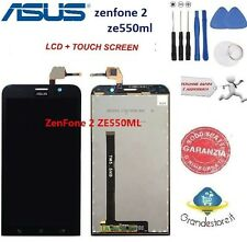LCD DISPLAY Asus Asus Zenfone 2 ZE550ML Z008D TOUCH SCREEN SCHERMO NERO NUOVO