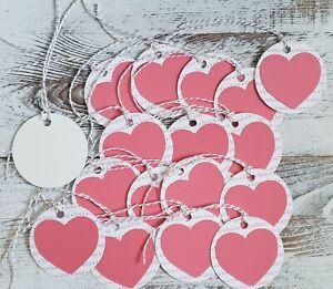 "18 Pack Handmade 2.5"" Round Valentine Gift Tags, Love"
