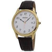 Seiko Neo Classic White Dial Leather Band SUR306