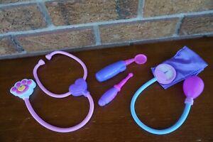Costume PET Veterinarian Lot SET Kit Doctor Stethoscope Blood Pressure Cuff Toys