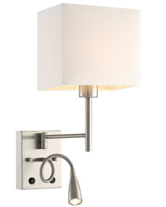 HomeFocus LED Bedside Reading Wall Lamp Light,LED Reading Swing Arm Wall Lamp 2