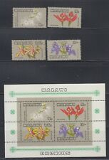 Malawi 1969 Orchids Sc 114-117a Complete  Mint Never Hinged