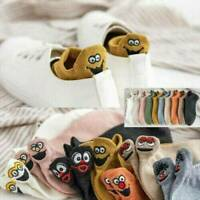 Cartoon Embroidered Expression Womens Cotton Socks Fashion Ankle Funny Socks Hot