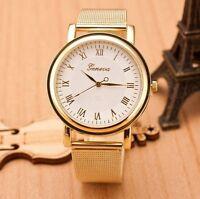 Geneva Fashion Classic Stainless Steel Women Ladies Girl Men Quartz Wrist Watch