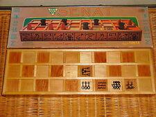 Rare!1998 Fundex® SENAT ~ Ancient Egyptian Backgammon Game Wooden Board
