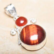 "Handmade Pietersite Quartz  Gemstone 925 Sterling Silver Pendant 2"" #P14774"