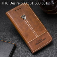 Stand Flip Wallet Slot Leather Phone Case Cover For HTC Desire 500 501 600 601