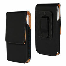 Black Vertical Leather Tradesman Belt Clip Case Cover for iPhone 4 4S 5 5S 5C SE