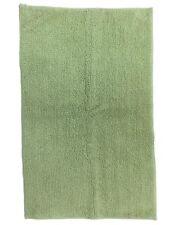 Reversible Sage Green Plush Pile Throw Rug 23x38 Cotton Bath Mat