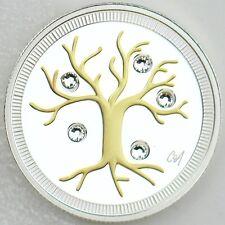Canada 2014 $3 Jewel Tree of Life Caroline Néron Pure Silver Swarovski Crystals