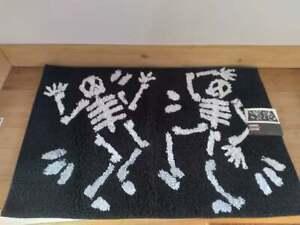 Celebrate Halloween Together Skeletons Black Bathroom Rug 20x30