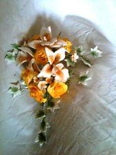 GOLDEN ROSE GIALLE e Orchidea Fiore di zucchero Spray