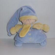 Doudou Lutin Nounours - Bleu Jaune