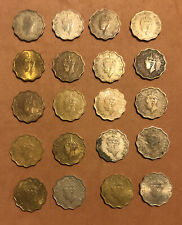 1939-1946  BRITISH INDIA COLLECTION OF 20: ONE ANNA COLLECTIBLE COINS~GEORGE VI