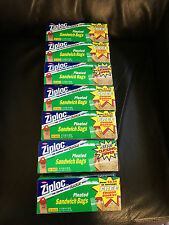 Vintage Ziploc PLEATED SANDWICH BAGS 7 BOXES OF 50 COUNT BAGS 350 TOTAL BAGS