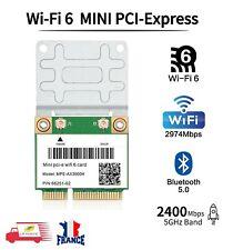 Carte Wifi 6 Mini PCIe WIFI Carte Réseau 2.4G/5G 802.11 AX BT5.0 Double Bande