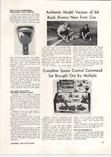 1963 PAPER AD Cox Article Riviera Model Car Mattel Barbie Fan Club Promotion