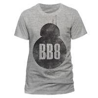 Official Star Wars BB8 Silhouette Vintage T-shirt Grey s m l xl xxl