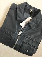 "ALL SAINTS MEN'S ""MORSON"" BLACK LEATHER BIKER JACKET XS S M L XL BRAND NEW & TAG"