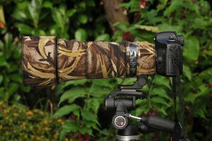 Sigma 150 600mm CONTEMPORARY Protection Neoprene lens cover  Brown Grass Camo