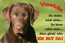 LABRADOR - A4 Metall Warnschild Hundeschild Alu SCHILD Türschild - LAB 58 T2 BRA