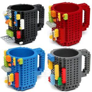 DIY Creative Brick Mug Building Blocks Coffee Cup Block Puzzle Mug 350ml