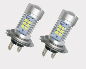 1 Lampara Bombillas H7  2835 21SMD 21W Luz Blanca Pura Coche DC 12V LED
