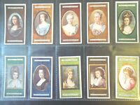 1923  MINIATURES famous paintings portraits set 25 cards Tobacco Cigarette
